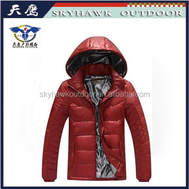 Fashion Design Free Sample Men Down Jacket For Winter