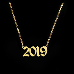 Best Gift 2019 New Year Necklace Birth Year Date Personalized Necklace