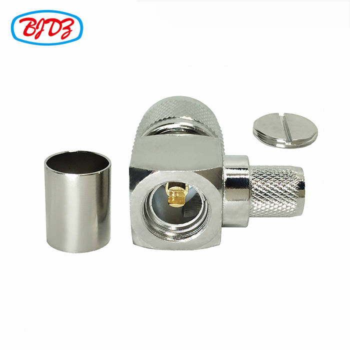 aircraft electrical connectors electrical RA male connector right angle N connector for cable LMR400 7D-FB 8D-FB