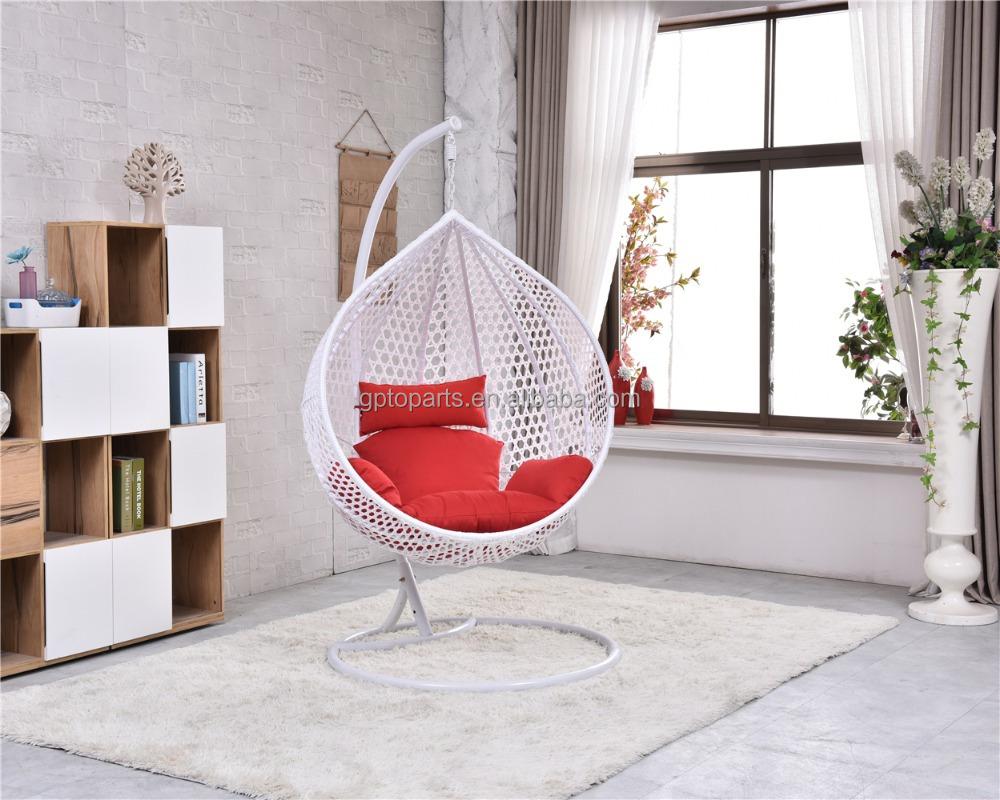 Plástico barato mimbre silla colgante soporte entrega rápida tiempo ...
