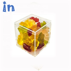 Hot sell factory new product cube box clear acrylic candy box plastic box