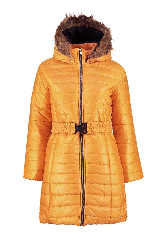 XQS Womens Hood Winter Zipper Front Thick Puffer Down Jacket Coat