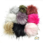 DIY Faux Raccoon Fur Fluffy Pompom Ball for Hats Accessories