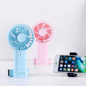 2019 New design Korean style 2000mAh Rechargeable Battery Handheld Desktop Mini USB Fan With Mobile Phone Clip For Phone Video