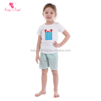 Fashion fresh sweet summer holiday beach clothes sets baby girl clothes