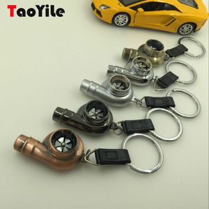 Cheap Cute Car Parts 3D Metal Leather Keychain, Key Chain
