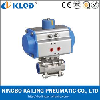 China Made Pneumatic Actuator Ball Valve For High Temperature ...