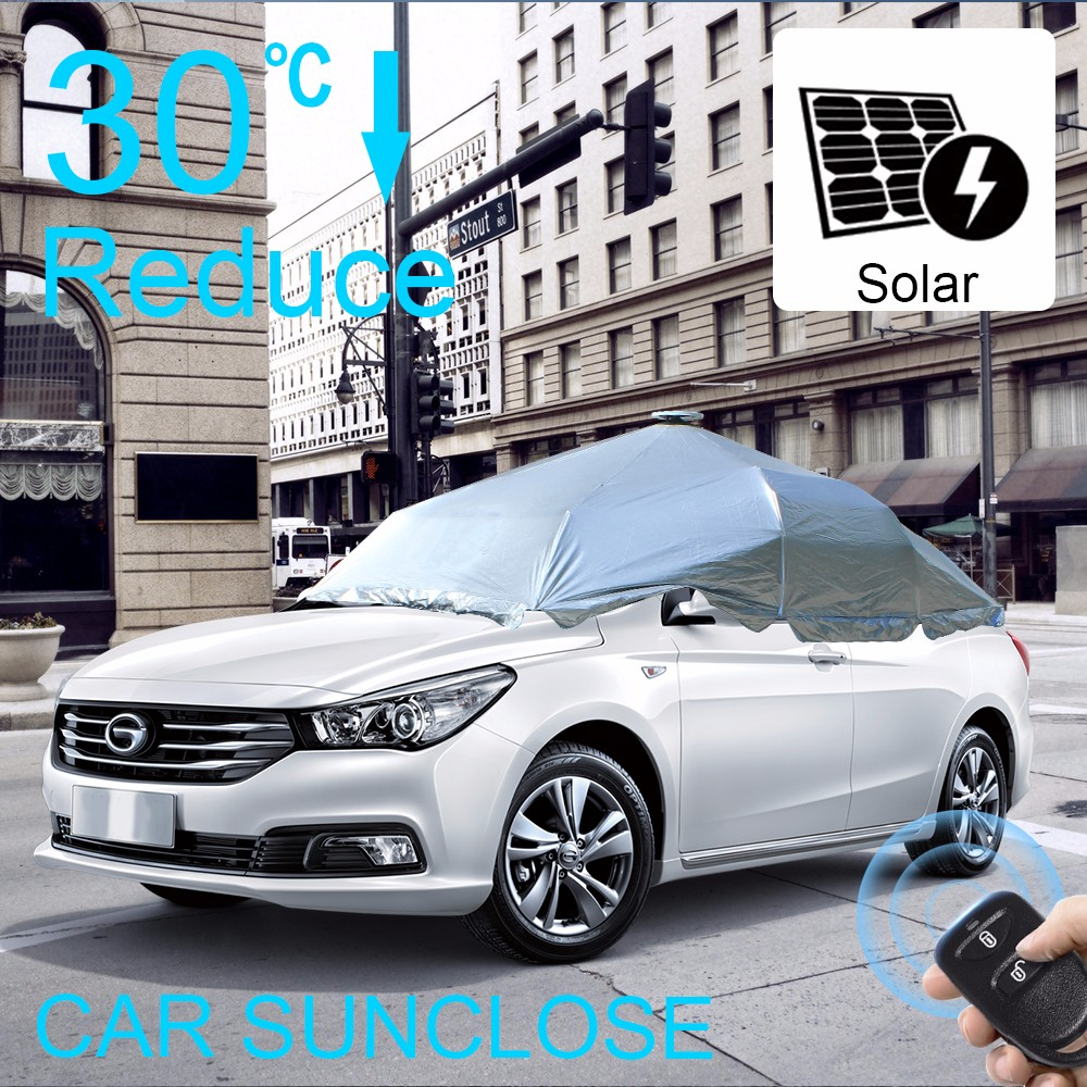 Sunclose Factory Solar Power Automatic Car Sunshade Hail Protection G Smart Black Pelindung Kaca Mobil Dari Sinar Matahari Sun Shade Easy Cover Side Awning Buy Sunshadehail