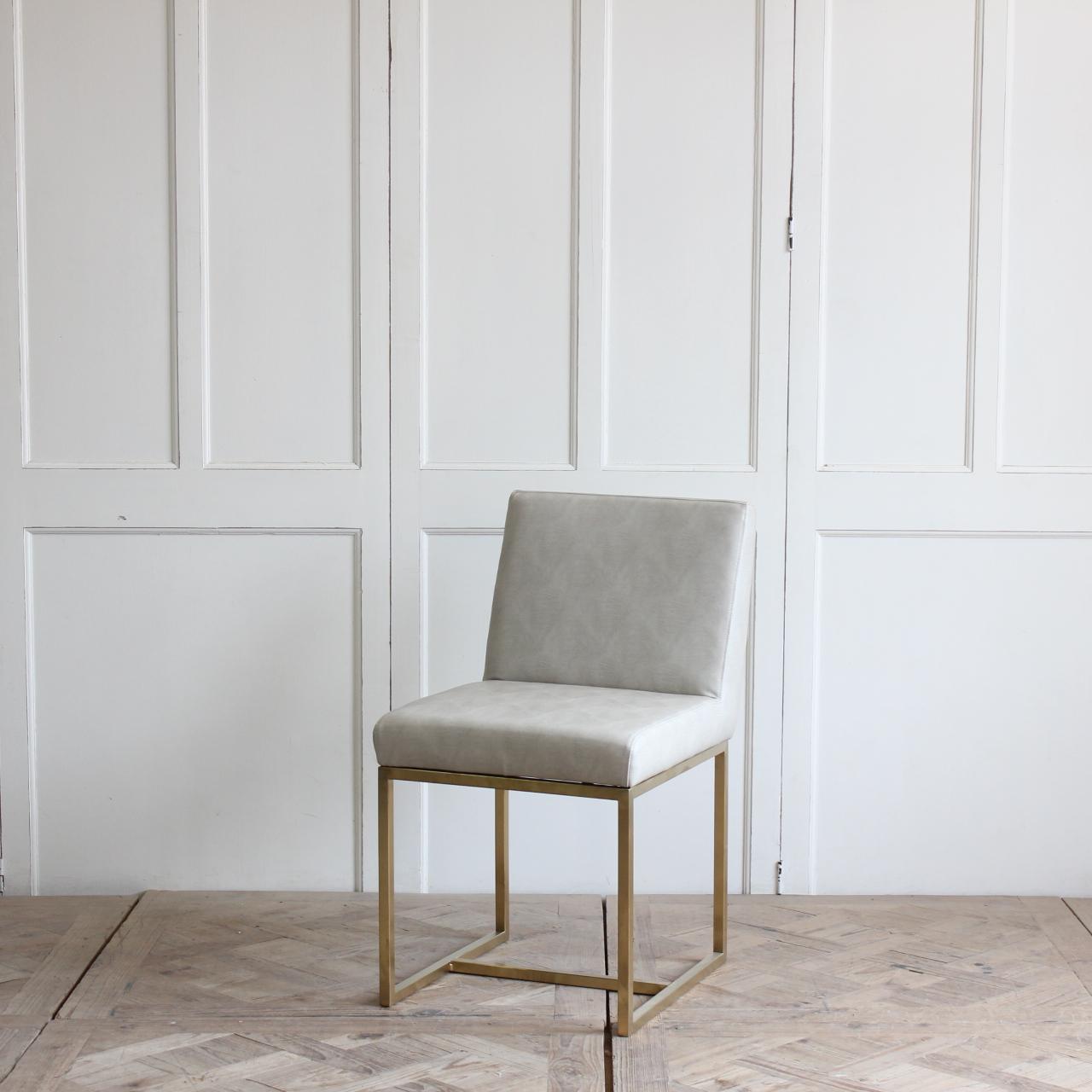 Furniture manufacturer modern design ring back upholstered dining room leather dining chair