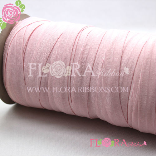 Factory customized color fold over band elastic braid