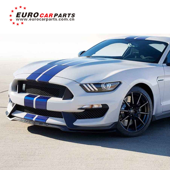 Mustang GT350 1:1 style body kits with front bumper fender ducts GT350 rear  diffuser tail pipe mustang GT350 rear wing 2018, View body kit for Mustang