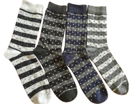 World knitted anti-bacterial no pressure breathable black cotton socks