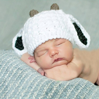 2017 Fast Shipment Hot Selling Kids Girls lovely rabbit ears knitting baby handmade hat wholesale