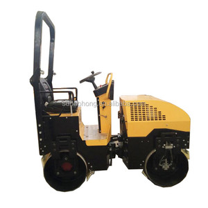 Japan engine 2 ton roller compactor double drum vibratory ride on road roller