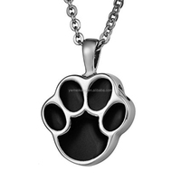 Paw cremation jewelry Pet Cremation Pendant