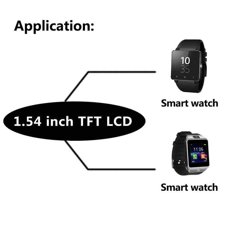 [In Stock]Topfosion 1.54 inch tft lcd touch screen with MCU ips square wide screen for wearable device
