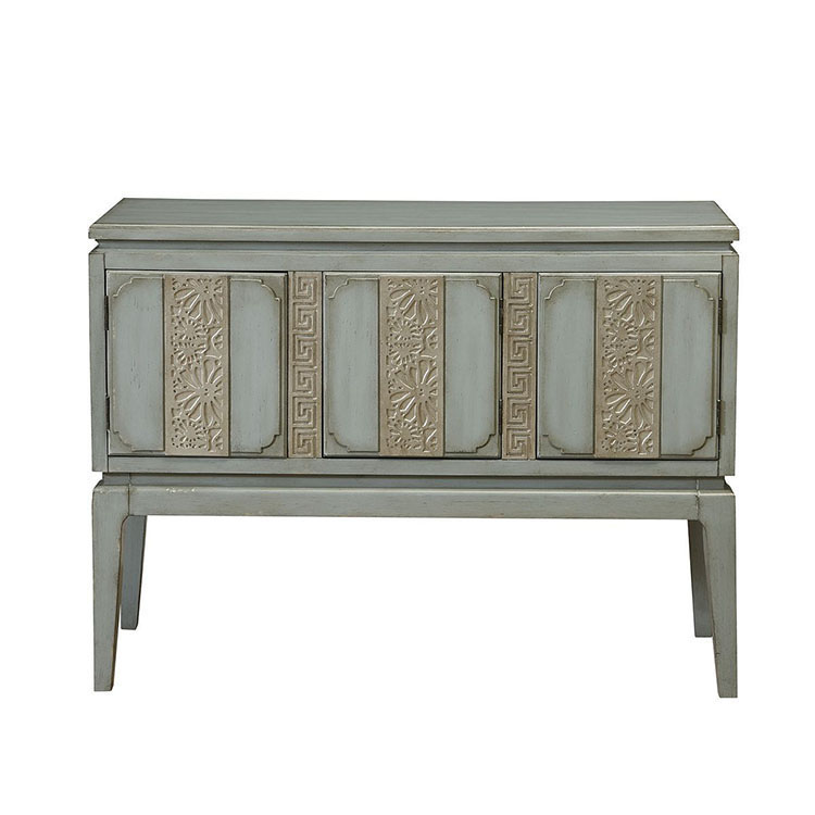 Shabby chic wooden sideboard server buffet table