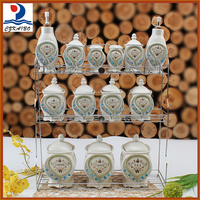 High quality porcelain canister storage bottles and jars for season