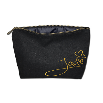 76337643e38a Artgimen Black Canvas Customized Gift Simple Makeup Pouch Cotton Cosmetic  Bag - Buy Cosmetic Bag,Makeup Bag,Makeup Pouch Product on Alibaba.com