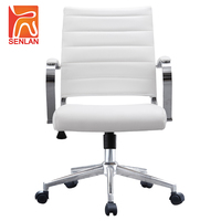A802-3B China Supplier High Grade Office Furniture Low Back White Lift Office Chair Price