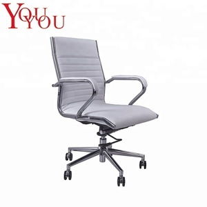 High quality Classic adjustable black leather office chair with PU castor find office chairs