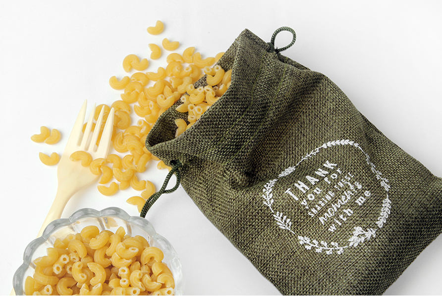 Linen party gift cute wedding favor drawstring bag
