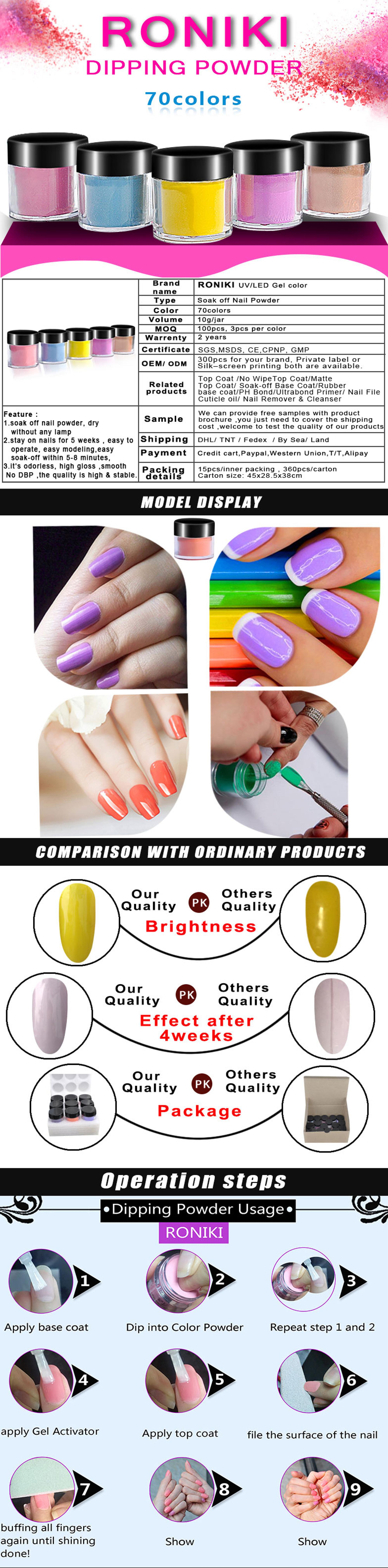 Rnk Best Selling Different Colors Nail Supplies Wholesale Acrylic Nail Dipping Powder Buy Nail Gel Polish Dipping Powder Nail System Wholesale