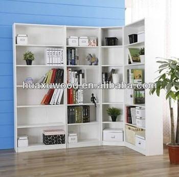 Hx-mz455 Woonkamer L- Vorm Witte Hoek Boekenkast - Buy Product on ...