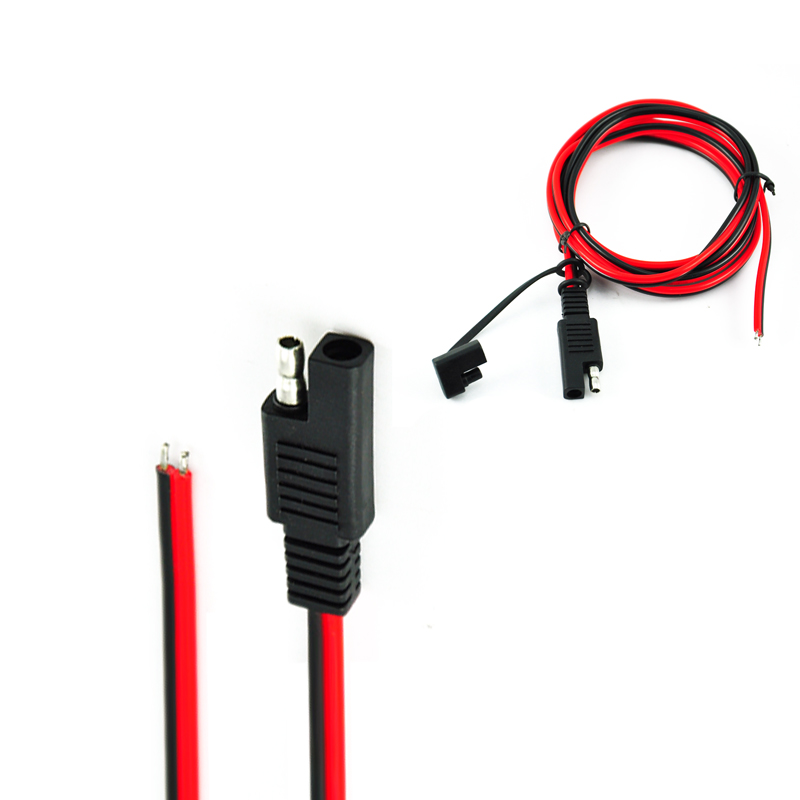 2Pin SAE Plug Extension Cable 1 to 2 Battery clip 1015 18AWG 1m Cable Connector