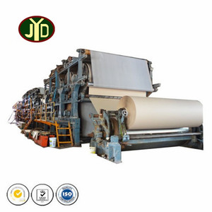 JYD machine corrugated paper recycling plant waste paper and wood pulp recycling jumbo roll fluting paper