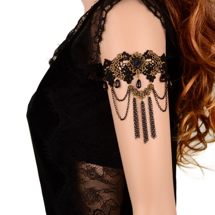 wholesale lace tassel hand <strong>accessories</strong> for girls crystal arm bracelet