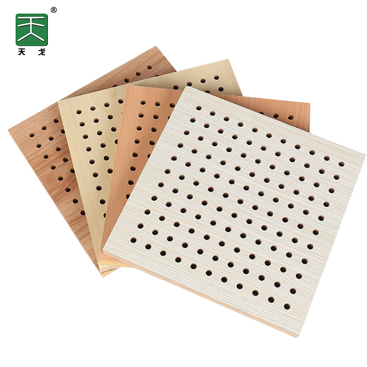 TianGe mdf ไม้ perforated acoustic sound absorbing แผงอะคูสติกแผงราคา