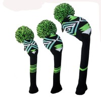 2016 Top popular custom knitted headcovers protected knit golf headcover plain knitted golf products