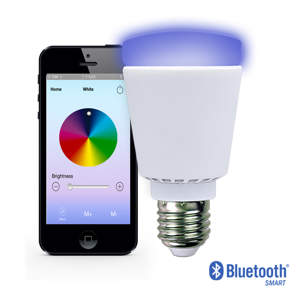 A60 E27 10w Rgbw Led Light Bulb Color Changing And Cool White ...