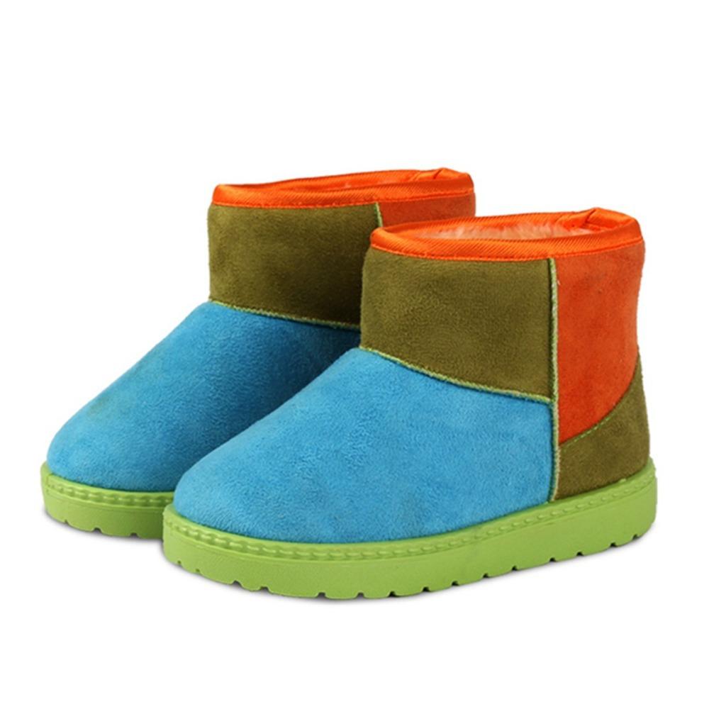 Fashion Warm Winter Children Kids Babi Thicken Plush Boots Shoes Boy Girls Baby Sneakers Flat Snow