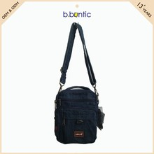 wholesale fabric shoulder bag jeans men casual messenger bag