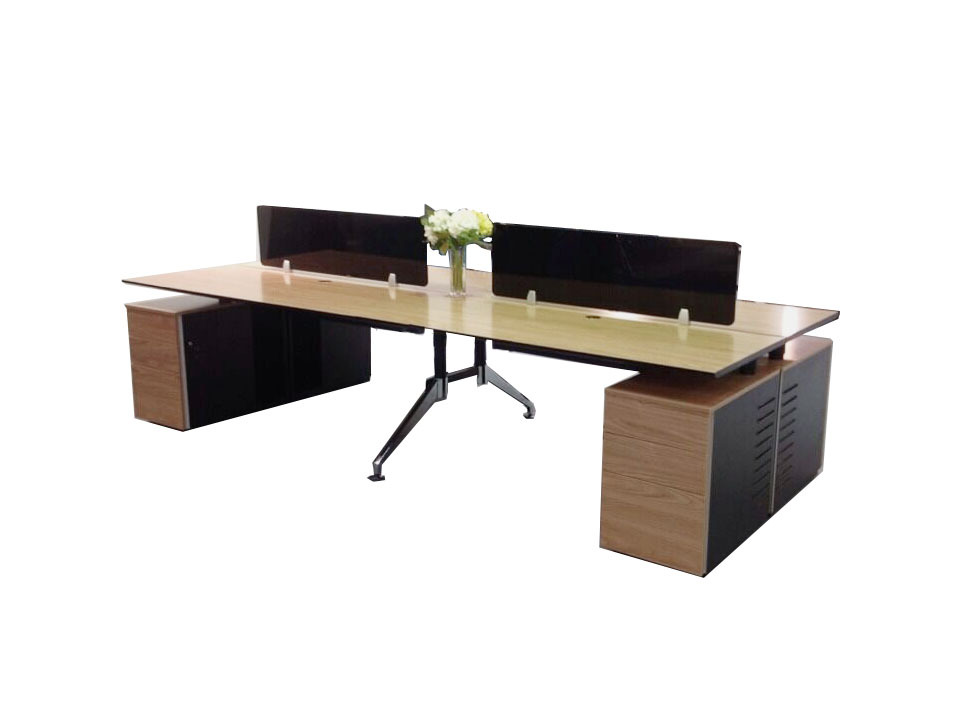Modern Design Office Table For 4 Person4 Seat Office Workstation