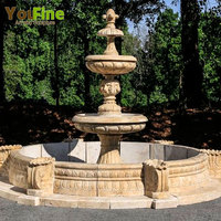 Tiered Modern Style fountain stone garden products