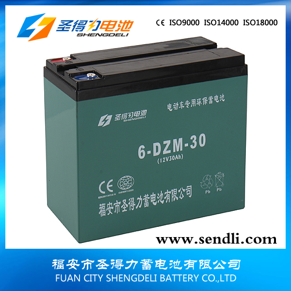 Plastic Case Lead Acid Rechargeable Motorbike Battery 12v30ah