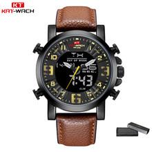 KAT-WACH часы для мужчин спортивные мужские армейские военные кварцевые цифровые часы водонепроницаемые часы Relogio Masculino наручные часы Rolex_watch(Китай)