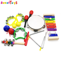 2018 Promotional colorful kids music instrument music toy for children with pvc bag package