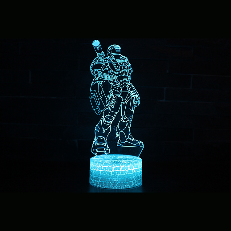 3D color changing table lamp iron man led lamp / iron man cannon night light lamp