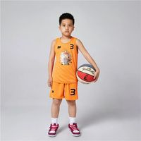 Kids Reversible Basketball Jerseys Boys Girl Quick Dry Double Sided Outdoor Sports Sleeveless Running Suit