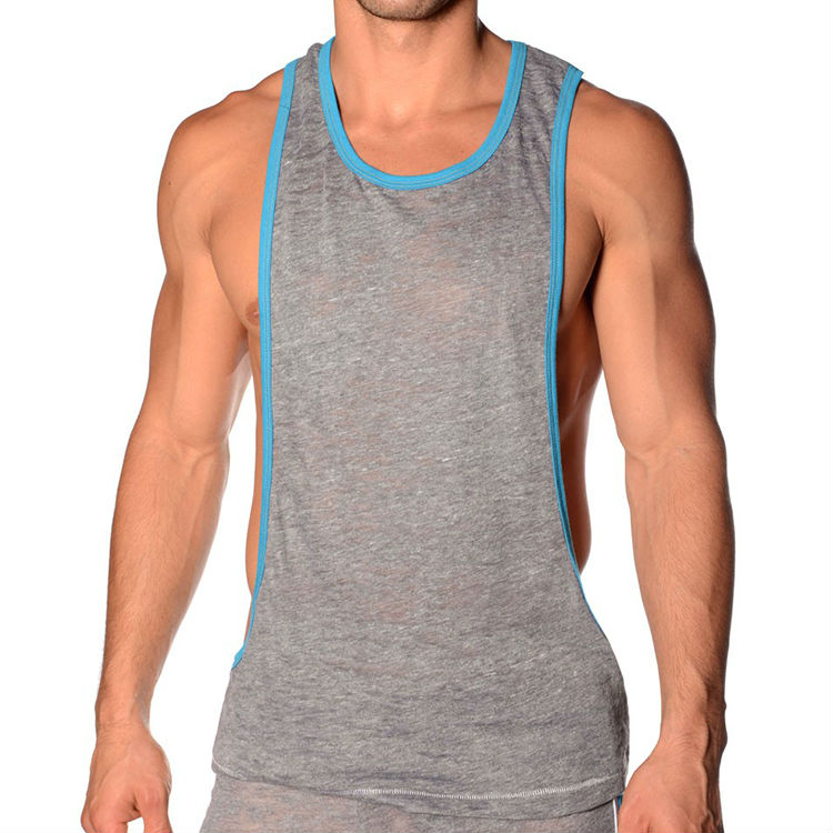 32a437b0da964 comfortable and sexy sport wide open on the side mens gym tank top wholesale