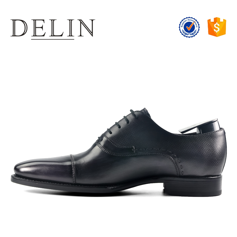genuine men's dress shoes leather brand Wholesale fashion brogue black Twn8tq0Xq