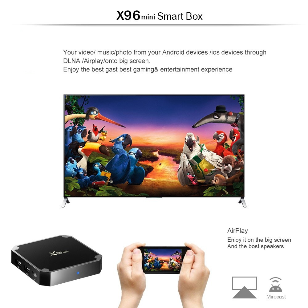 Excel Digital 1G 8G Amlogic S905W download user manual for android x96 MINI tv box