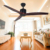 Wholesale modern Market Decorative Remote Control 3 Wood Blades Ceiling Fan