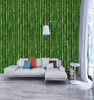 low price Repositionable bamboo 3d nature wallpaper for bedroom