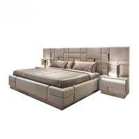 luxury italian bedroom set furniture king size modern italian latest double bed designer furniture set leather luxury bed