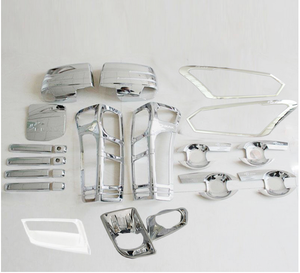complete chrome kits for dmax 2016 ABS chrome full kits set for Chevrolet dmax 2016 plate kits dmax 2016